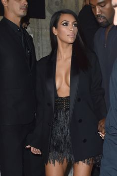 Kim Kardashian arrives at Lanvin Fashion Show during Paris Fashion Week, Womenswear SS 2015