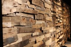 Front wall made from pallet boards