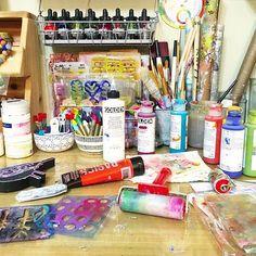 When you love your stencils in brayer more than your art! When You Love, Media Design, Stencils, Create, Instagram Posts, Art, Art Background, Kunst, Templates