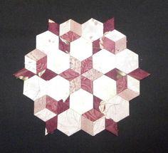 Hexagonos y rombos hechos con nuestro producto Templatesquick ®™ REF: TI35H y TI35R