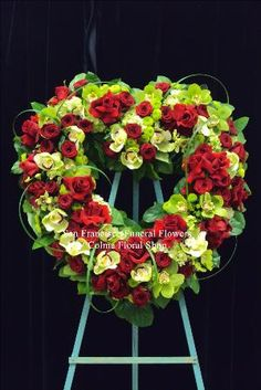 Emerald Love Heart Funeral Flowers, Sympathy Flowers, Funeral Flower Arrangements from San Francisco Funeral Flowers.com Search for chinese funeral, sympathy funeral flower arrangements from our SanFranciscoFuneralFlowers.com website. Our funeral and sympathy arrangements include crosses, casket covers, hearts, wreaths on wood easels, coronas fúnebres, arreglos fúnebres, cruces para velorio, coronas para difunto, arreglos fúnebres, Florerias, Floreria, arreglos florales, corona funebre…