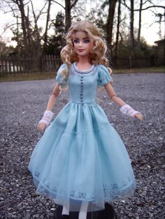 Custom Barbie, Custom Dolls, Alice In Wonderland Doll, Mia Wasikowska, Inspirational Celebrities, Doll Repaint, Doll Hair, Barbie Dolls, Costumes