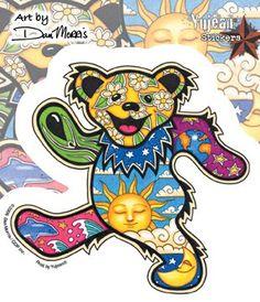 Dan Morris - Grateful Dead Dancing Bear - Sticker / Decal. for shawn