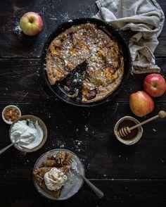 apple & buckwheat puff pancake, from alternative baker Waffles, Pancakes, Puff Pancake, Red Bowl, Gluten Free Grains, Buckwheat, Granola, Oatmeal, Oven