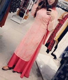 Girls Fashion Clothes, Fashion Dresses, Clothes For Women, Dress Indian Style, Indian Outfits, Simple Kurti Designs, Girls Black Dress, Indian Designer Suits, Embroidery Suits Design