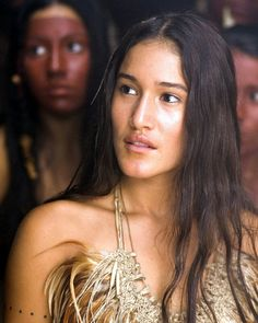 Q'orianka Kilcher as Pocahontas in The New World by Terence Mallick