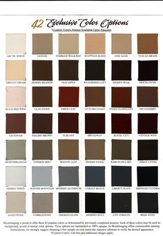 Our Brick Staining Color Chart can help you decide how you want your home or building to look. Call now for any questions on color. 303-255-2130