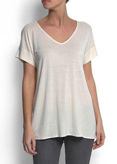 V-neck t-shirt         $29.99
