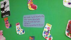 Dr. Seuss Fox in Socks Preschool Bulletin Board Activity.  Read Across America Project. Celebrate Dr. Seuss's Birthday.