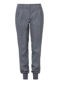 Stoffhose - grey/black pin stripe