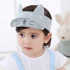 Newborn Boys Girl Hats Cat Partern Baby Baseball  Boy Infant Sun Hat With Ear Sunscreen Girl Caps #Affiliate