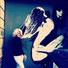 A beautiful piece of street art in Dublin called the 'Lost Angel' by Eelus Angel S, Dublin, Cali, Street Art, About Me Blog, Lost, Spaces, Beautiful