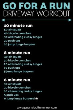 Go For A Run Driveway Workout. A workout combining running and bodyweight exerci. Go For A Run Driveway Workout. A workout combining running and bodyweight exerci… Go For A Run Driveway Workout. A workout combining running and bodyweight exercises. At Home Workout Plan, At Home Workouts, Intense At Home Workout, Easy Daily Workouts, Hiit Workouts For Men, Weekly Workout Routines, Soccer Workouts, Wods Crossfit, Wod Crossfit At Home