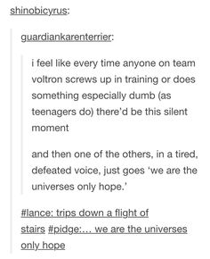 I pretty sure Lance would doing the stupid thing like 9/10 times