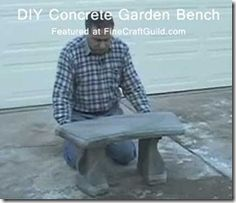 DIY Concrete Bench