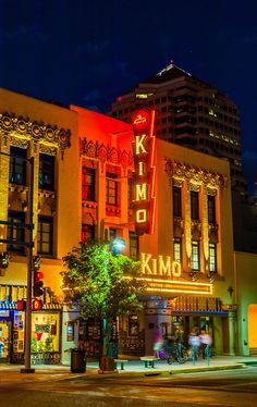 The KiMo Theater, a landmark building (National Register of Historic Places) built in Art Deco-Pueblo Revival style, on Central Avenue NW in...