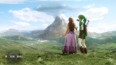 TZP: Link and Malon observe Death Mountain by *Adella on deviantART