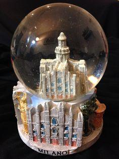 Snow Globe of Milano, Italy