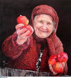 Kai Fine Art is an art website, shows painting and illustration works all over the world. We Are The World, People Around The World, Color Pencil Art, Foto Art, Interesting Faces, Art Plastique, Pencil Drawings, Colored Pencils, Illustration