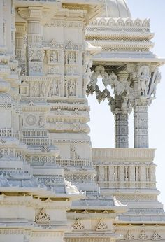 Shri Swaminarayan Mandir Temple in Toronto, Canada - There is one in Lilburn, GA if you live near there. Absolutely breathtaking!