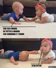 Funny Video Memes, Funny Jokes, Really Funny, Funny Cute, Italian Memes, Funny Scenes, Funny Phrases, Funny Messages, Funny Pins