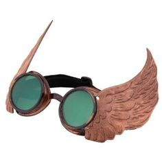 Steampunk winged goggles