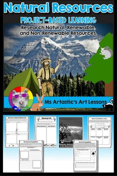 Natural Resources, Renewable & Non-Renewable Resources, Project-Based Learning Energy Resources, Science Resources, School Resources, Teaching Science, Science Writing, Activities, Science Ideas, Teaching Resources, Problem Based Learning