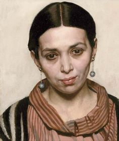 The Iranian Girl by Harold Knight (1874-1961) British oil on canvas sold at Christies London England 27 March 2003