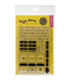 54b088bb3a Waffle Flower Crafts Clear Stamps-Planner-Stay Focused Stay Focused