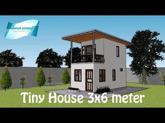 ARKIX3D - YouTube Small Room Layouts, Small House Layout, House Layouts, House Roof Design, House Outside Design, Home Building Design, Tiny House Loft, Modern Tiny House, Modern House Floor Plans