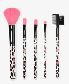 Leopard Cosmetic Brush Set | FOREVER21 - 1000038412