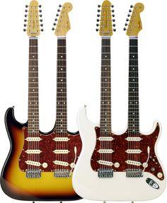 Fender Japan 30th Anniversary Double Neck Stratocaster ST-W【アーニーボール・ストラップ&ポリッシュ&クロスSETプレゼント】 【新製品ギター】【楽天市場】