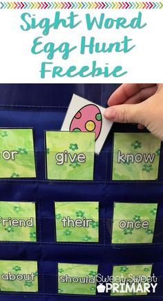This is such a fun way to practice sight words! This FREE spring literacy center is just right for kindergarten and first grade.