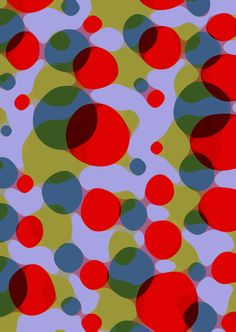 Painted and digital spotty pattern - Sarah Bagshaw
