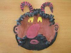Čert - 1 San Antoni, Christmas Crafts For Kids, Art Education, Superhero Logos, Art For Kids, Arts And Crafts, Projects, Art For Toddlers, Art Kids
