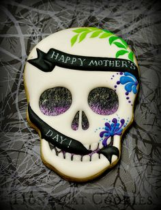 Mother's Day Sugar Skull by Honeycat Cookies
