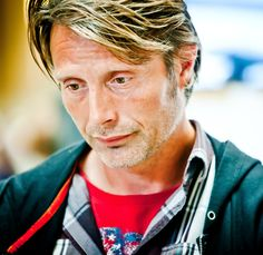 Mads Mikkelsen, who looks like he put on anything that was in the dryer or clean! #AManThing #TooCute