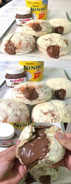 Donut's de de LEITE NINHO de 5 ingredientes 😍 #Donut's#Donut'sdeleiteninho#byigorhealthy