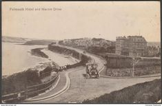 Falmouth Hotel and Marine Drive, Falmouth, Cornwall, 1922 - Valentine's Postcard
