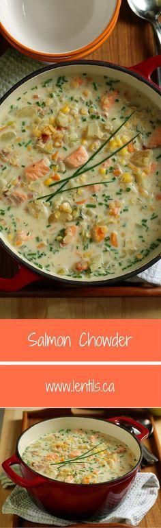 Salmon Chowder   One-Pot Wonders   lentils.ca //