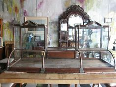 If I had a Brick and Mortar Store, I'd want to use these!  RARE Antique Claes & Lehnbeuter Country General Store Counter Top Display Case