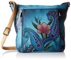 Anuschka Handpainted Leather Medium Travel Organizer, Denim Paisley Floral, One Size    Trendy, Cute and Luxurious Hand Painted Leather Purses      Hand painted leather purses are truly eye-catching, unique and cool.  In fact they are currently trending like crazy!  Obviously when you combine beautiful hand painted art, on fine quality leather the result is a timeless and charming creation just for you.
