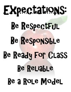 Classroom Management : Teacher Tools: First Days of Middle School - Forms, Checklists, and Protocols - Tools For School Discuss what each of these looks like, sounds like, ext. Classroom Expectations, Classroom Behavior, Classroom Rules, Classroom Posters, Science Classroom, Classroom Management, Classroom Ideas, Class Expectations, Apple Classroom