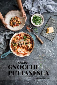 Homemade Gnocchi Puttanesca - Cook Republic