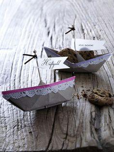 schiff ahoi basteln origami diy und name tags. Black Bedroom Furniture Sets. Home Design Ideas