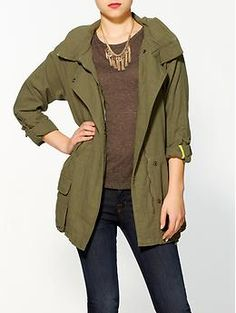 Military Hooded Jacket | Need something like this for EuroTrip 2013