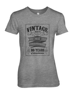 Vintage Made In 1937 Anniversary Birthday Gift Awesome Limited Edition Women's T-Shirt