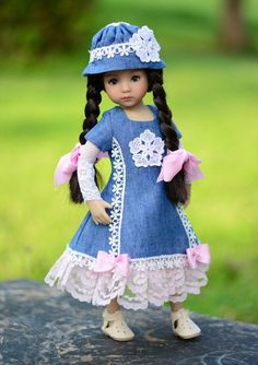 """Walk in the Park""Dress,Outfit,Clothes for 13""Effner Little Darling by Lumi"