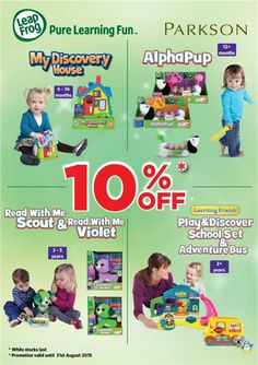 23 Jul-31 Aug 2015: Parkson Leapfrog 10% Off Special Promotion