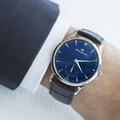 Swipe to discover the elegant Master timepieces with a deep azurite blue dial. #UltraThin
